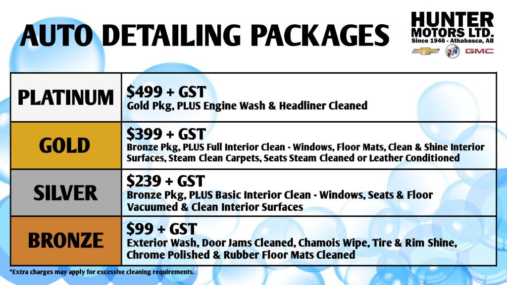 Auto Detailing Packages Hunter Motors